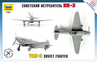 Zvezda YAK-3 Soviet Fighter Snap Kit 1:72 7301