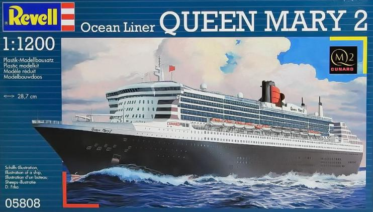 Plastikový model lodi Revell OceanLiner QUEEN MARY 2 1:1200  05808