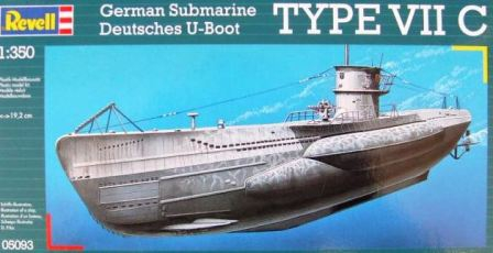 Revell ponorka German Submarine TYPE VII C U-Boot Typ VIIC 1:350 05093
