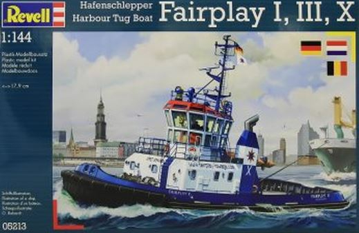 Revell Harbour Tug Boat Fairplay I, III, X, XIV 1:144