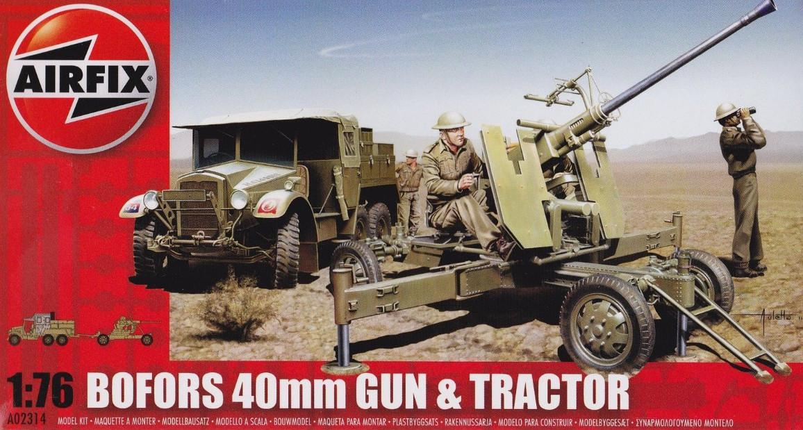 Airfix Bofors 40mm Gun and Tractor 1:76 A02314