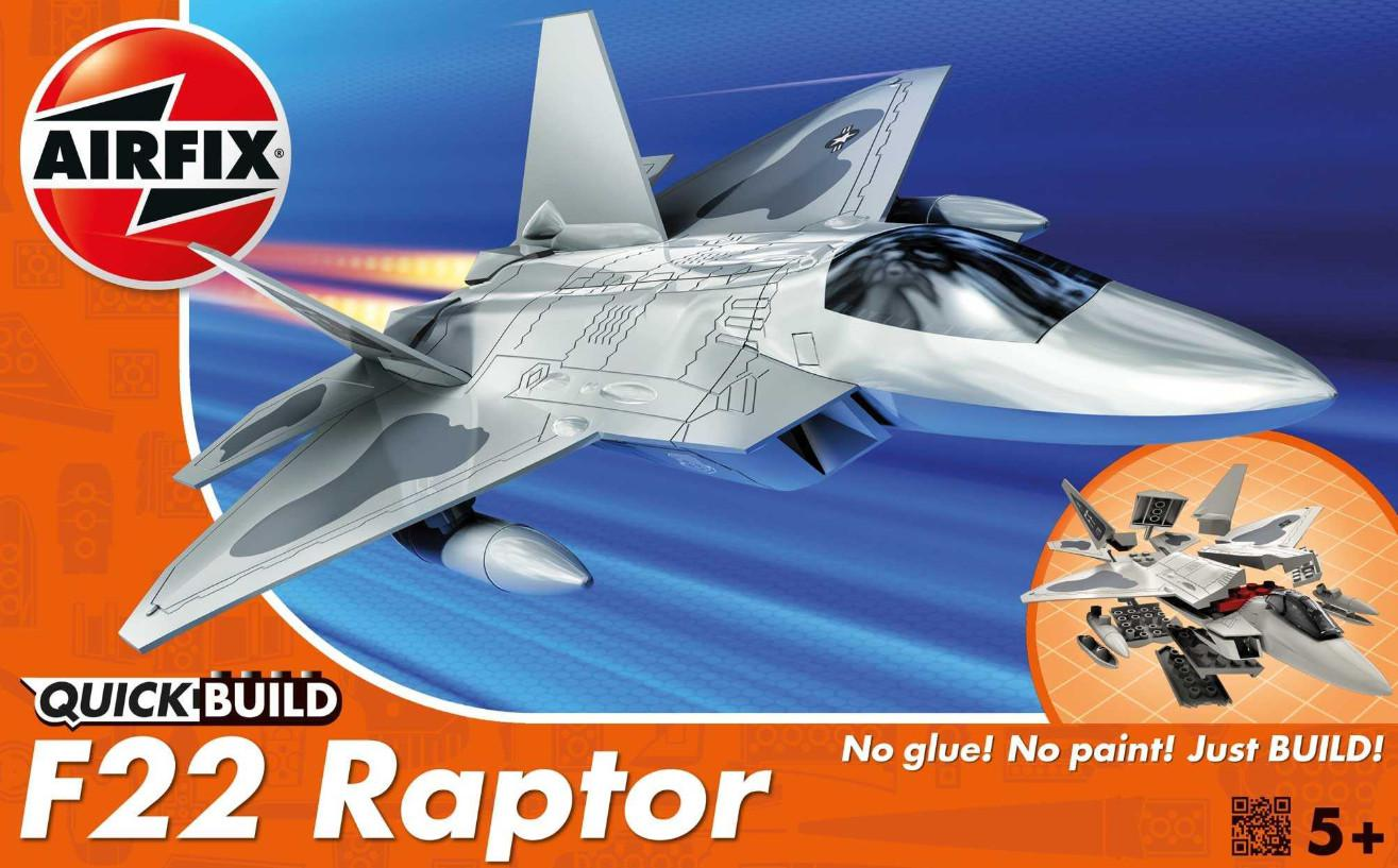 Airfix F-22 Raptor Quick Build J6005
