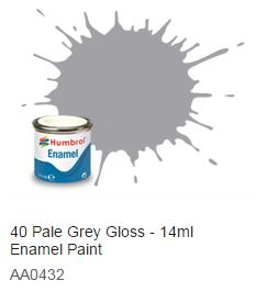 Humbrol barva email 40 - Pale Grey Gloss 14ml