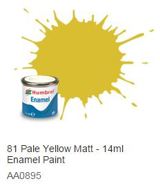 Humbrol barva email 81 - Pale Yellow - Matná - Humbrol 14ml