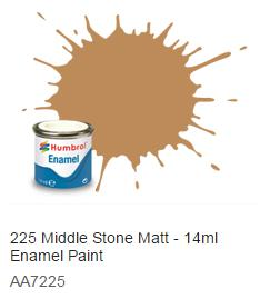 Humbrol barva email 225 - Middle Stone - Matná - Humbrol 14ml