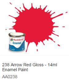 Humbrol barva email 238 - Arrow Red Gloss 14ml