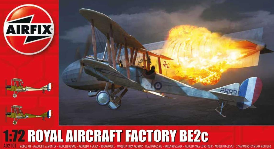 Airfix Royal Aircraft Factory BE2c 1:72 A02101