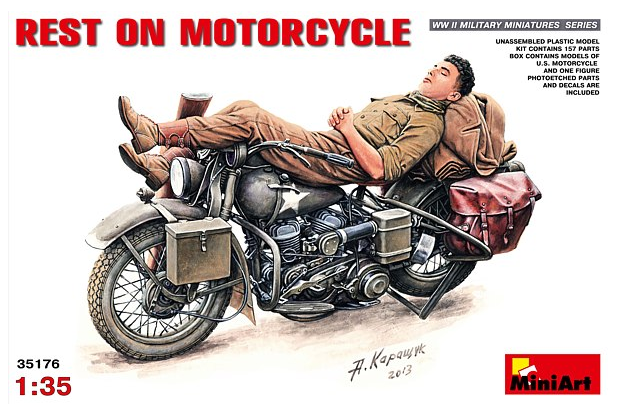 MiniArt Rest on Motorcycle 1:35 35176