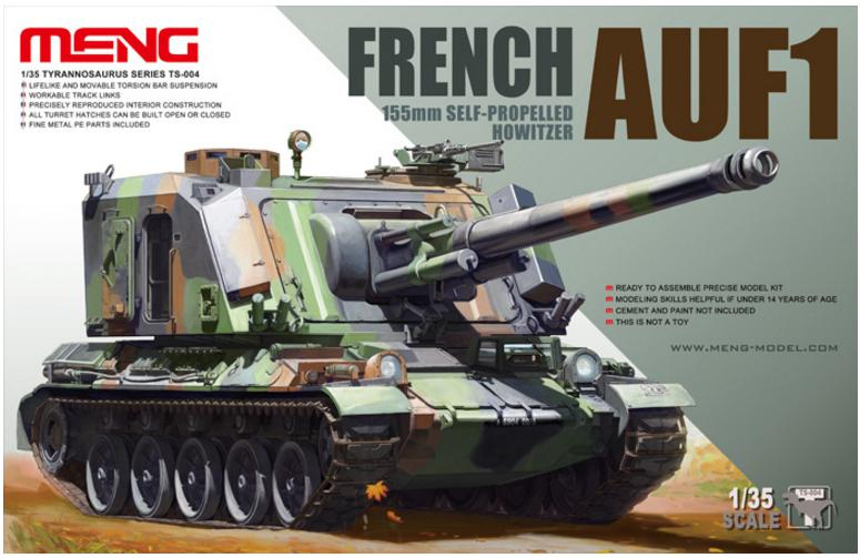 Meng French AUF1 155mm Self-Propelled Howitze 1:35 TS-004