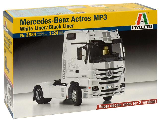 Italeri Mercedes-Benz Actros MP3 Black Liner /  White Liner 1:24 3884