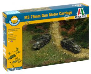 Italeri M3 75mm Gun Motor Carriage 1:72 7510