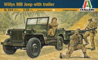 Italeri Willys MB Jeep with Trailer 1:35 0314