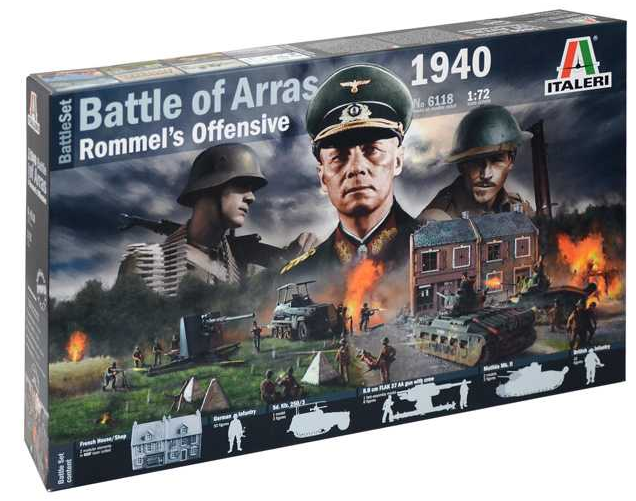 Italeri diorama Battle of Arras 1940 - Rommel's Offensive 1:72  6118