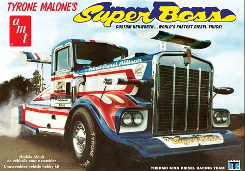 AMT Tyrone Malone Kenworth Super Boss Drag Truck 1:25