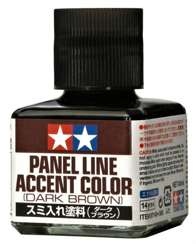 Tamiya Panel Line Accent Color Dark Brown 40 ml 87140