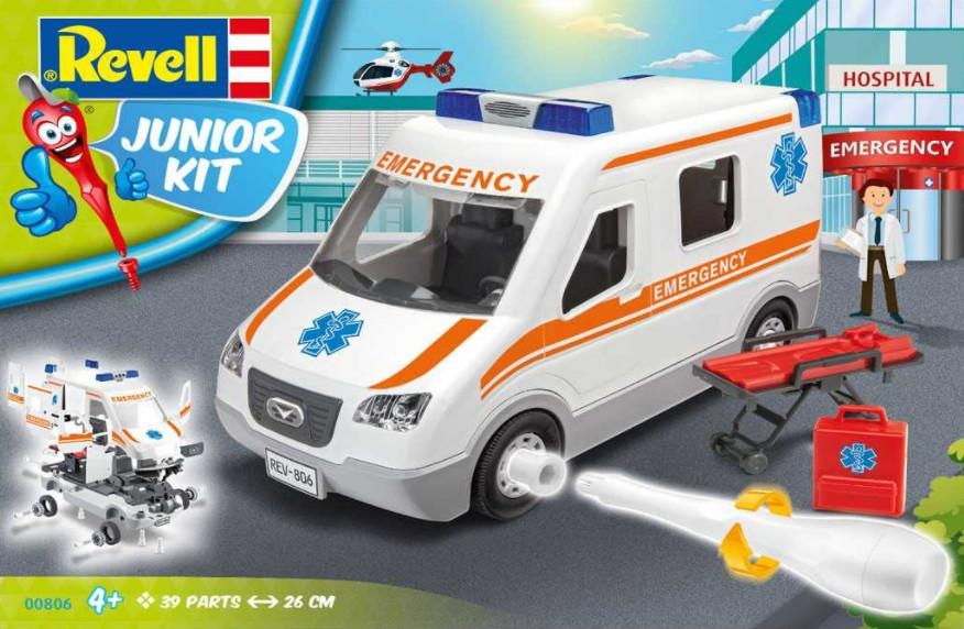Revell Ambulance Junior Kit 1:20 00806