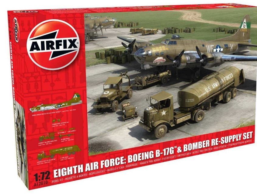Airfix Eighth Air Force: Boeing B-17G + Bomber Re-Supply Set 1:72 A12010