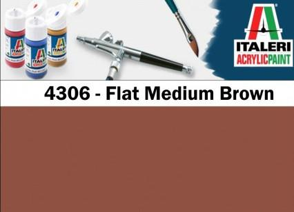 Italeri barva akryl 4306AP - Flat Medium Brown 20ml