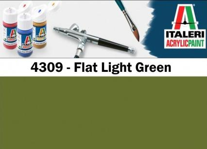 Italeri barva akryl 4309AP - Flat Light Green 20ml