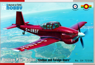 Special Hobby Boulton Paul Balliol Civil & Foreign Users 1:72 72356