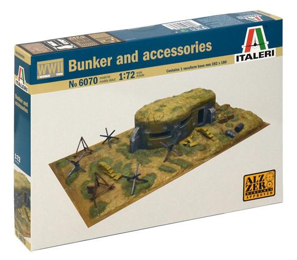 Italeri Bunker and Accessories 1:72 6070