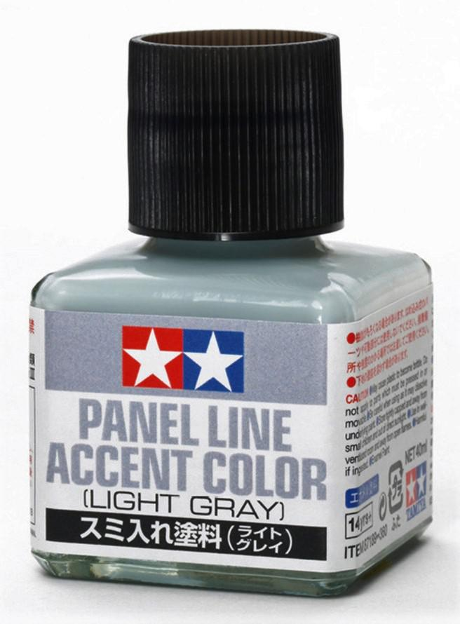 Tamiya Panel Line Accent Color Light Gray 40 ml 87189