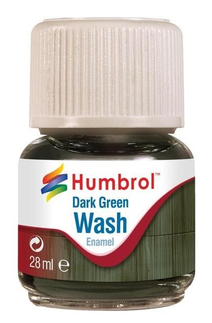 Humbrol panel line Wash Dark Green 28ml AV0203