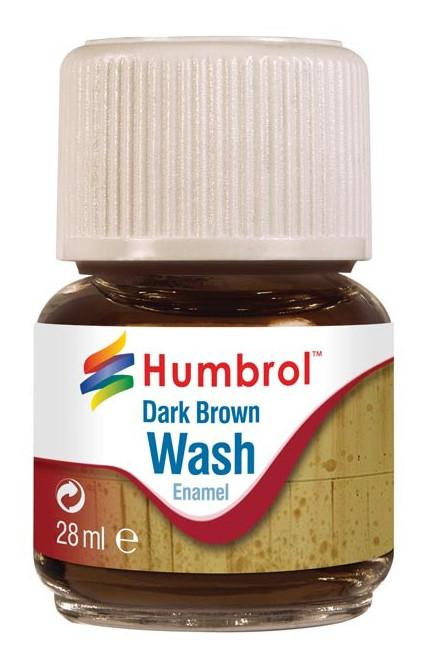 Humbrol panel line Wash Dark Brown 28ml AV0205