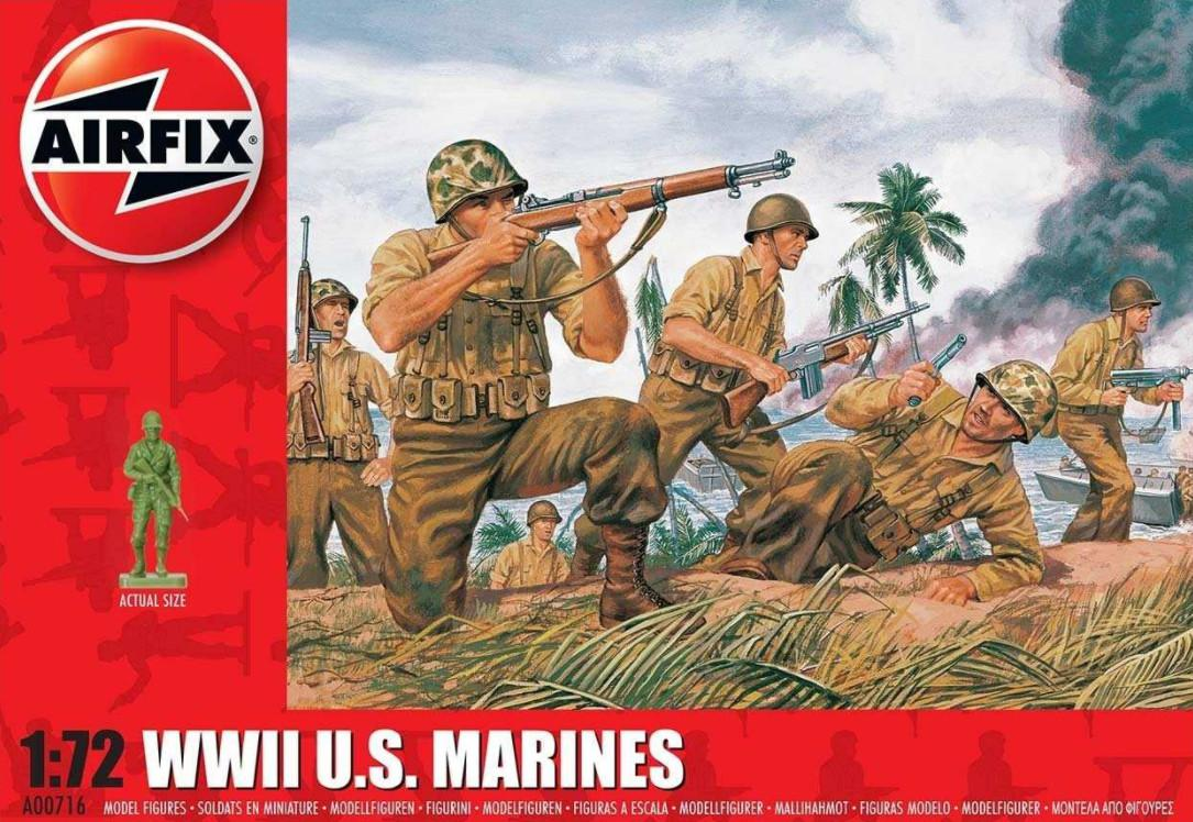 Airfix figurky WWII US Marines 1:72 A00716