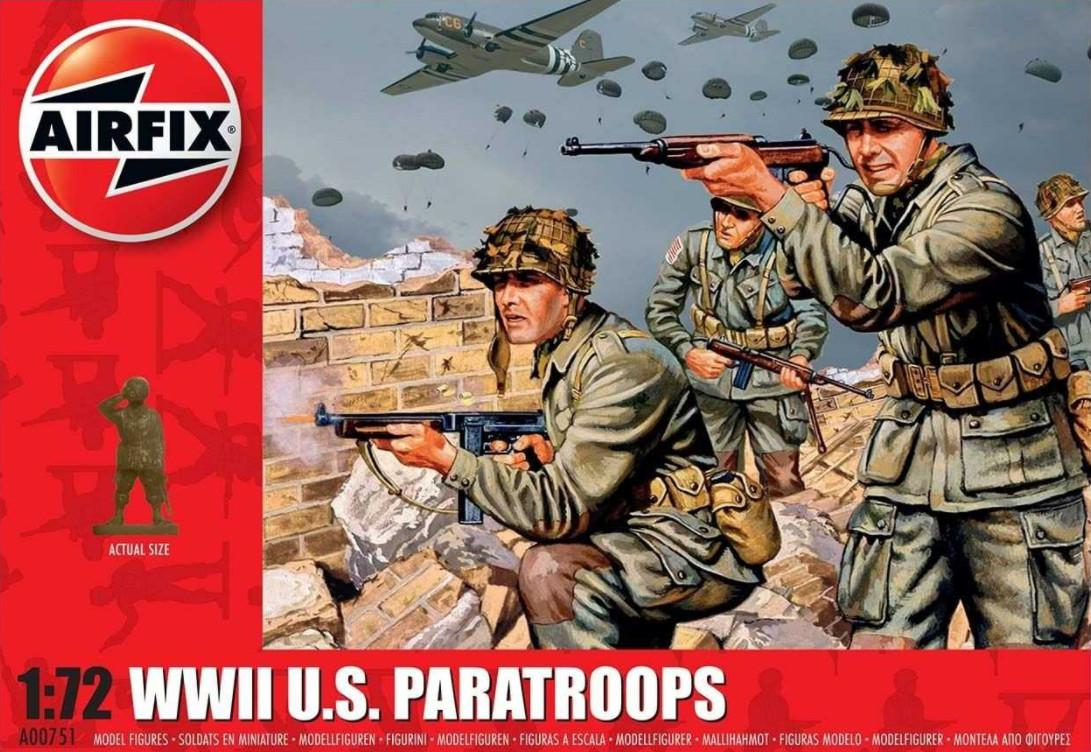 Airfix figurky WWII US Paratroops 1:72 A00751