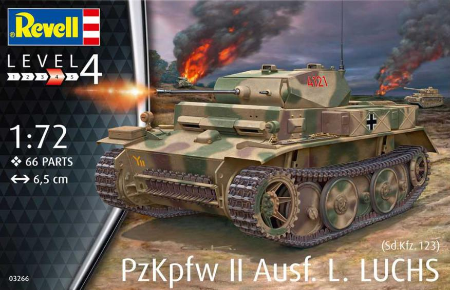 Revell PzKpfw II Ausf.L LUCHS (Sd.Kfz.123) 1:72 03266