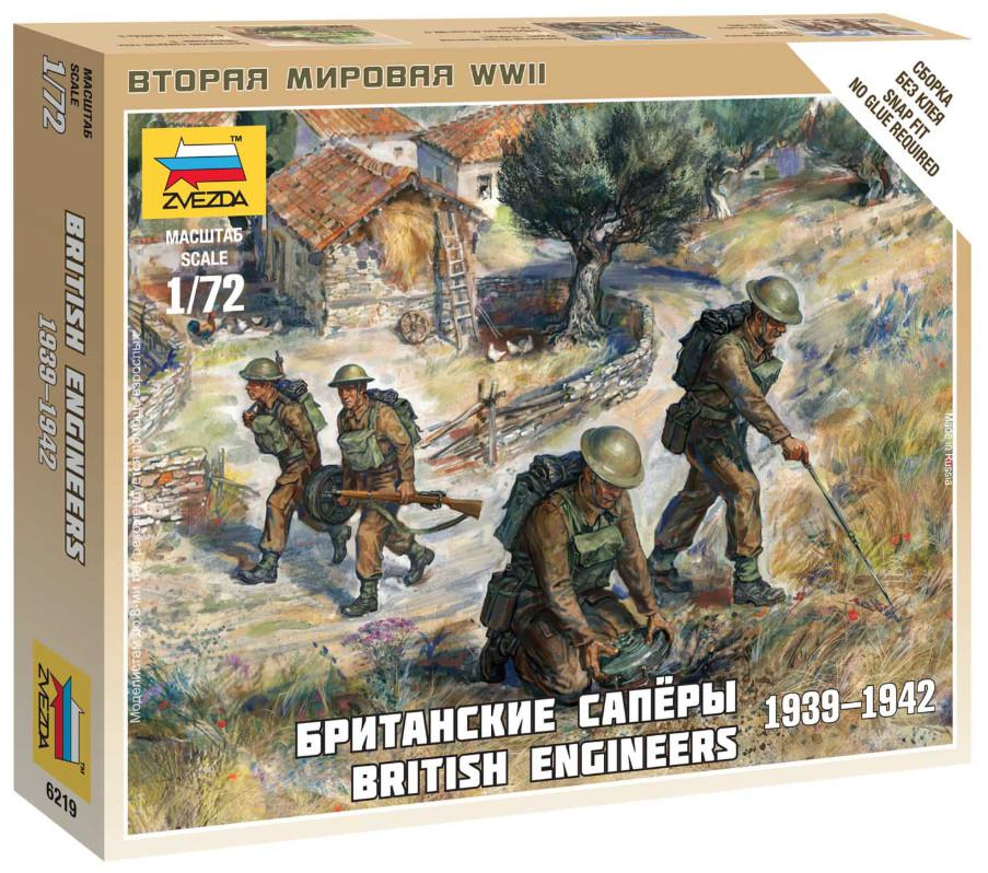 Zvezda figurky British Engineers 1:72 6219
