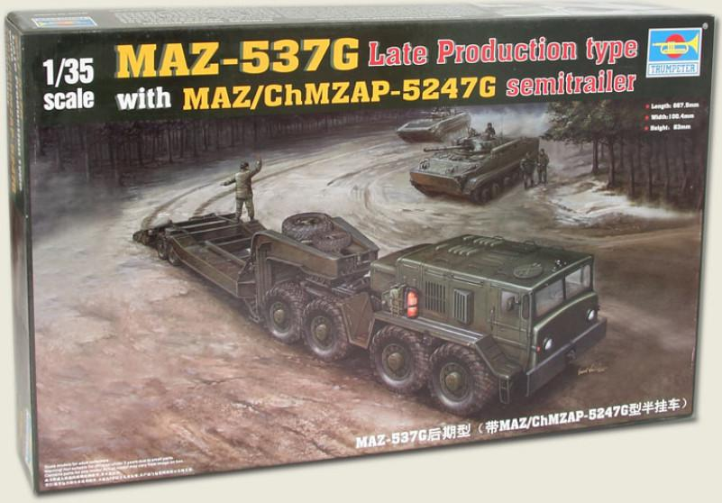 Trumpeter auto MAZ-537G Late Production type with MAZ/ChMZAP-5247G  1:35 00212