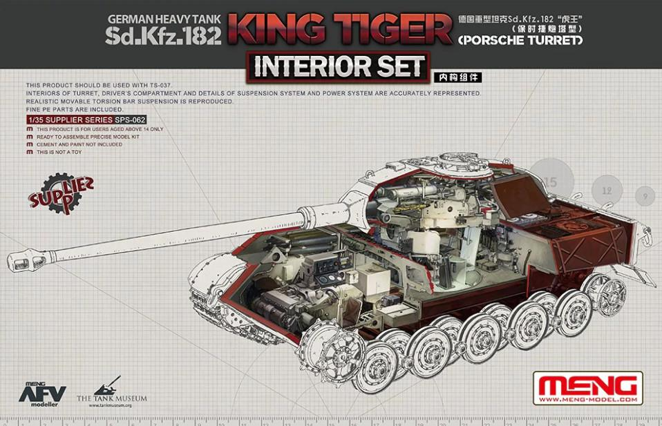 Meng Sd.Kfz.182 King Tiger (Porsche Turret) Interior Set 1:35 SPS-062