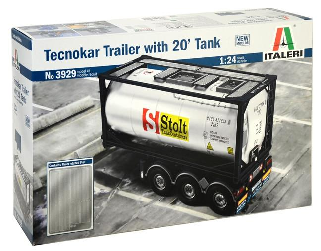 Italeri Tecnokar Trailer With 20' Tank 1:24 3929