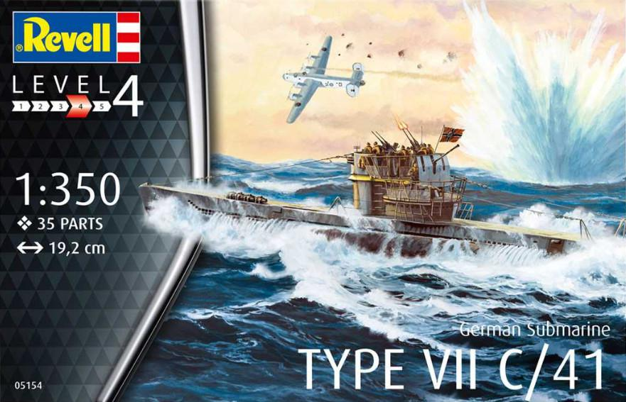 Revell German Submarine Type VII C/41 1:350 05154