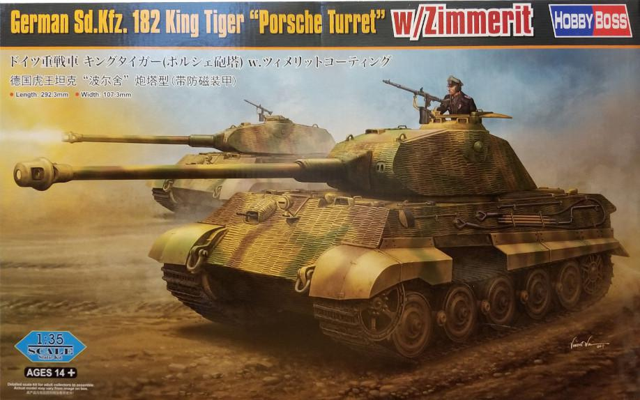 "Hobby Boss German Sd.Kfz.182 King Tiger ""Porsche Turret"" w/ Zimmerit 1:35 84530"