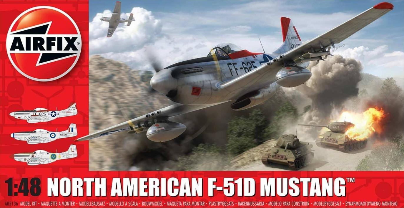 Airfix North American F-51D Mustang 1:48 A05136