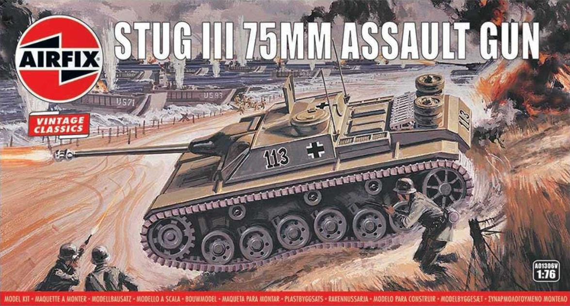 Airfix Stug III 75mm Assault Gun 1:76 A01306V
