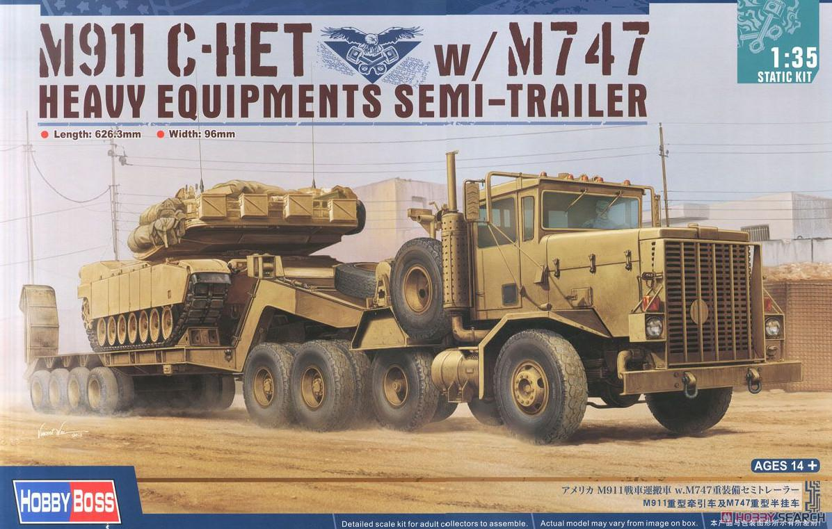 Hobby Boss M911 C-HET w/m747 Heavy Equipment Semi-Trailer 1:35 85519