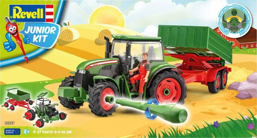 Revell Tractor & Trailer and Figure Junior-Kit 1:20 00817