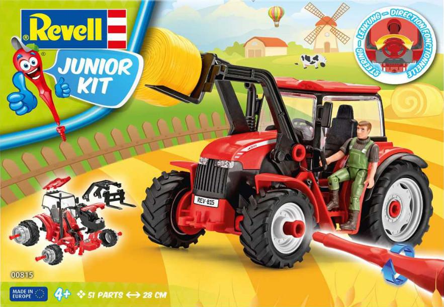 Revell Tractor With Loader and Figure Junior-Kit 1:20 00815