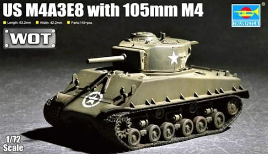 Trumpeter US M4A3E8 with 105mm M4 1:72 07168