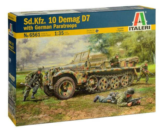 Italeri Sd. Kfz. 10 Demag D7 with German Paratroops 1:35 6561