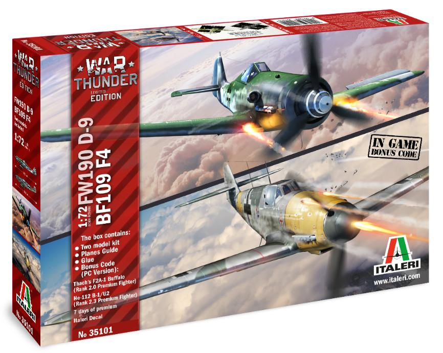 Italeri War Thunder BF109 F-4 and FW 190 D-9 1:72 35101