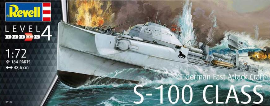 Revell German Fast Attack Craft S-100 CLASS 1:72 05162