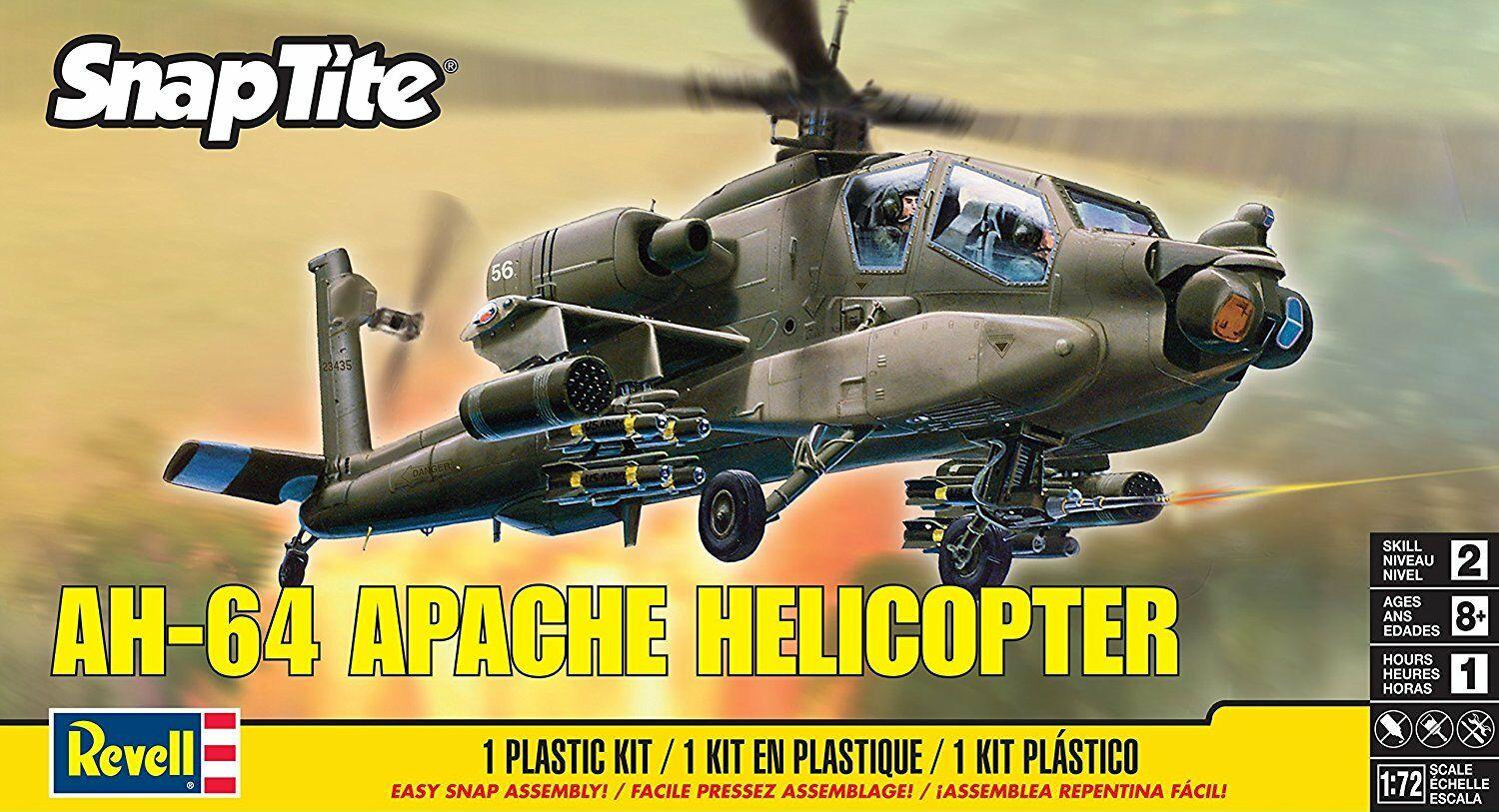 Revell AH-64 Apache Helicopter Snap Kit 1:72 85-1183