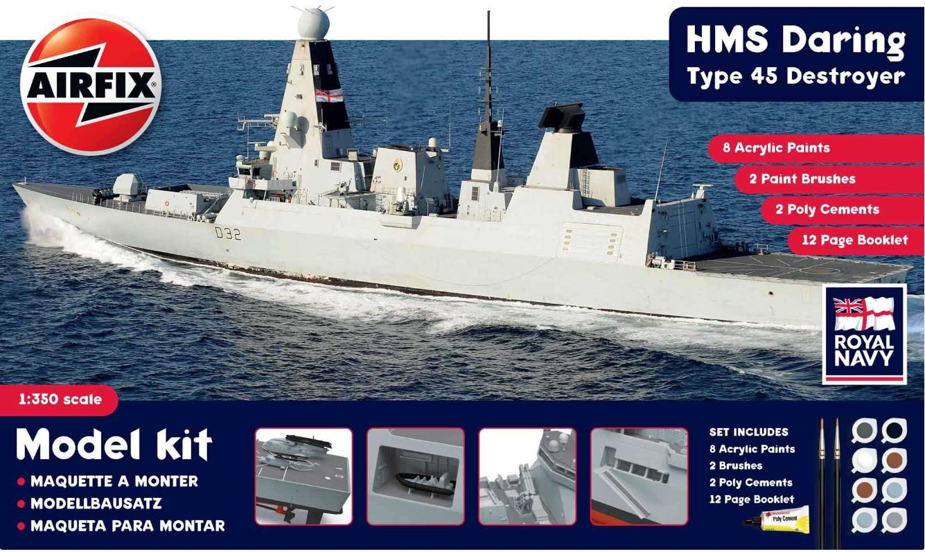 Airfix HMS Daring Type 45 Destroyer 1:350 A50132
