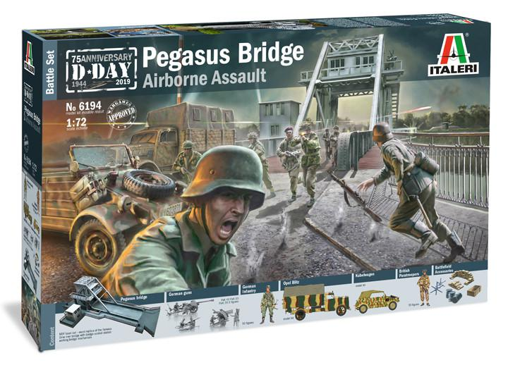 Italeri diorama Pegasus Bridge Airborne Assault 1:72 6194