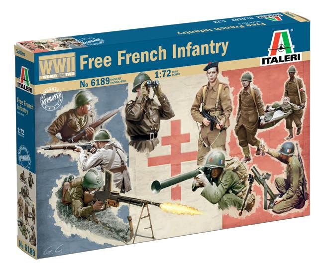 Italeri WWII Free French Infantry 1:72 6189